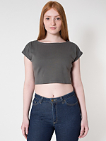 Interlock Zip Shoulder Crop Top
