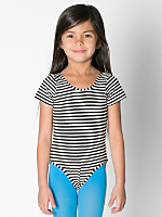 Kids' Printed Cotton Spandex Jersey Short Sleeve Leotard