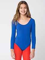 Youth Cotton Spandex Long Sleeve Leotard
