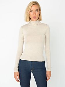 Cotton Spandex Jersey Long Sleeve Turtleneck