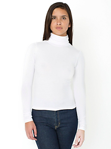 Cotton Spandex Jersey Long Sleeve Turtleneck