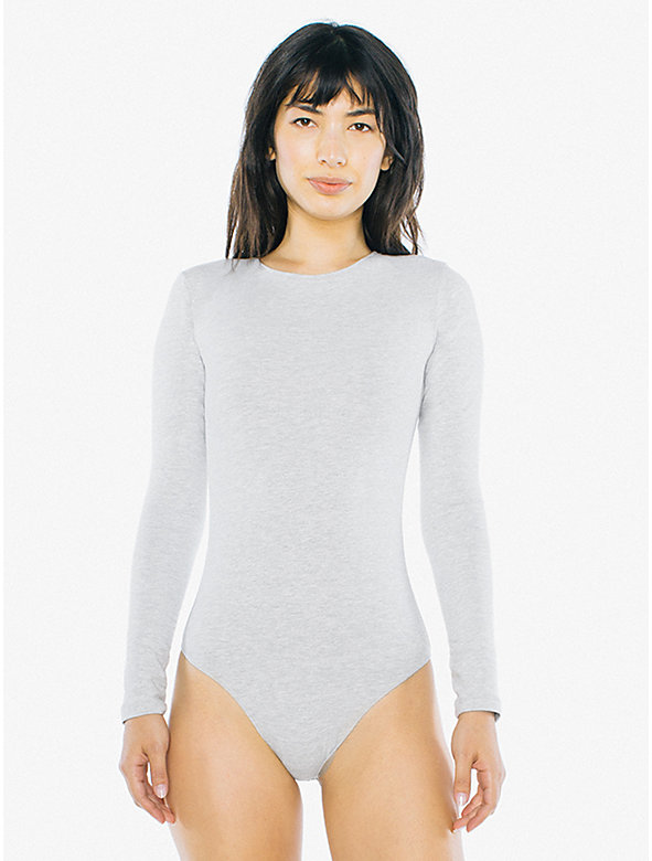 Cotton Spandex Long Sleeve Bodysuit