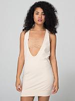 Cotton Spandex Jersey Deep U Dress