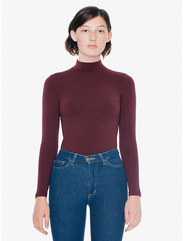 Cotton Spandex Turtleneck Top