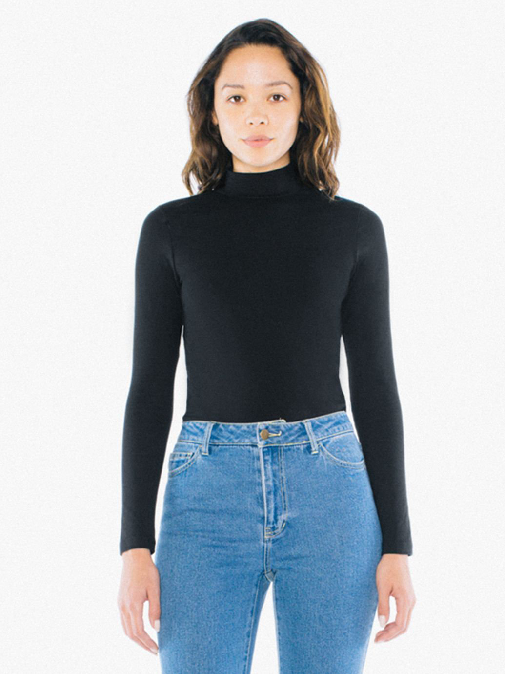 Cotton Spandex Turtleneck