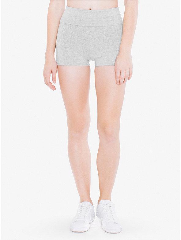 Cotton Spandex Jersey High-Waist Hot Short