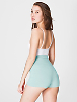 Cotton Spandex Jersey High-Waist Hot Short