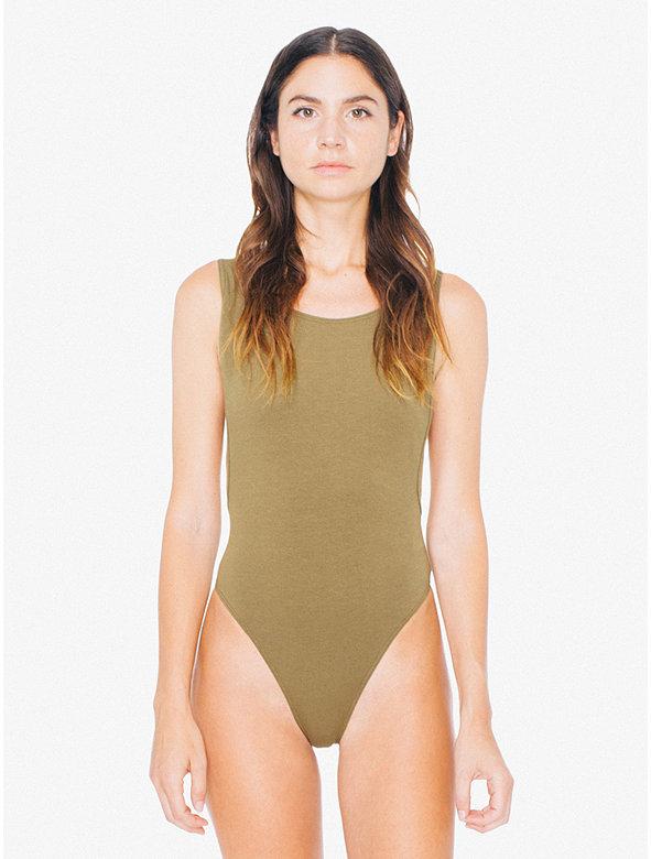 Cotton Spandex Deep Cut Bodysuit