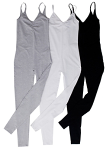 Cotton Spandex Jersey Unitard (3-Pack)