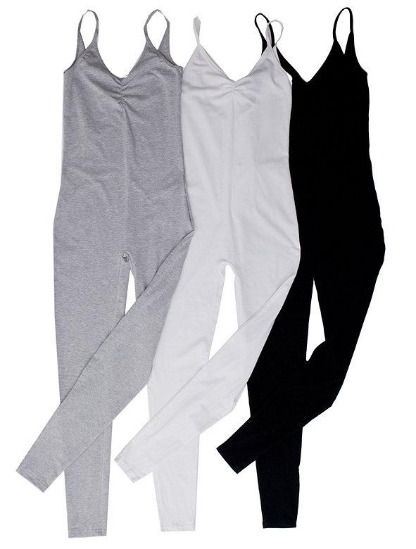 Cotton Spandex Jersey Unitard (3-Pack)