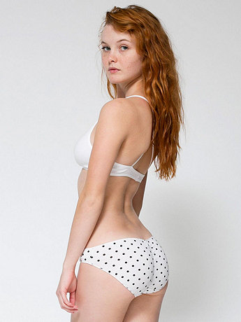Polka Dot Cotton Spandex Jersey Shirred Back Panty