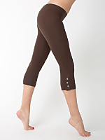 Cotton Spandex Jersey Placket Crop Legging