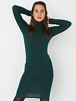 Cotton Spandex Jersey Turtleneck Dress