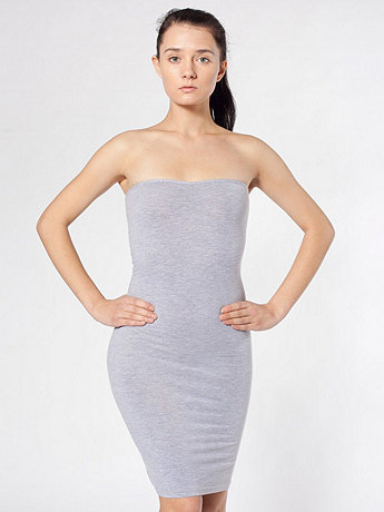 Cotton Spandex Jersey Strapless Ruched Dress