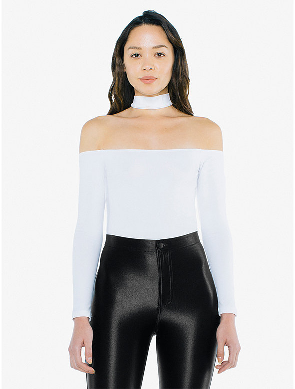 Cotton Spandex Mid-Length Choker Top