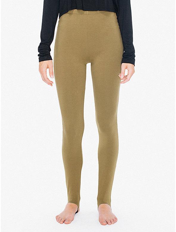 Cotton Spandex High-Waist Stirrup Legging