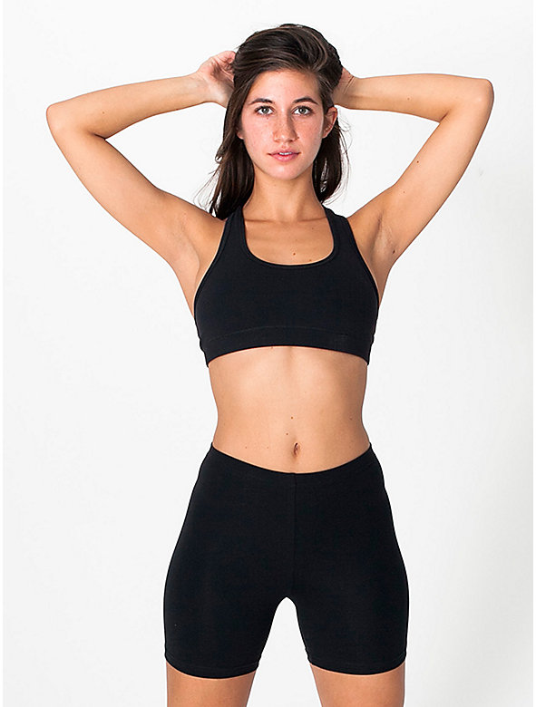 Cotton Spandex Jersey Cycle Short