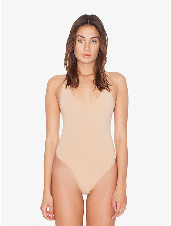 Cotton Spandex Tank Bodysuit