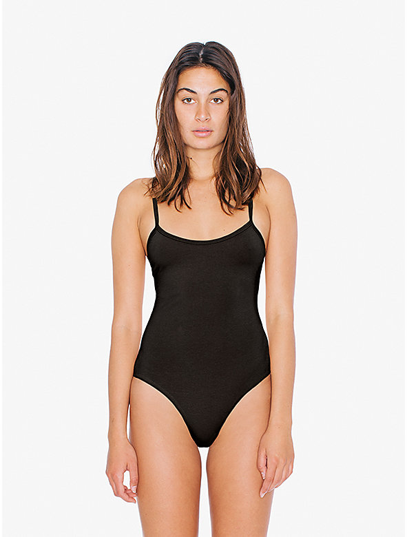 Cotton Spandex Spaghetti Strap 'Basic' Bodysuit