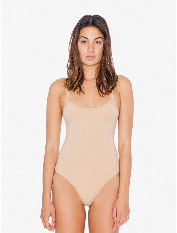 Cotton Spandex Spaghetti Strap 'Basic' Bodysuit