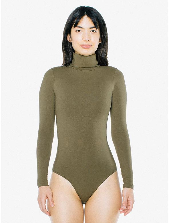 Cotton Spandex Turtleneck Bodysuit