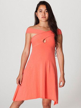 Cotton Spandex Jersey Bandeau Dress