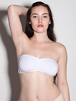 Cotton Spandex Ruched Front Tube Bra