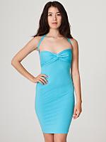 Cotton Spandex Jersey Bandeau Pencil Dress