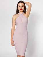 Cotton Spandex Jersey Bandeau Pencil Dress