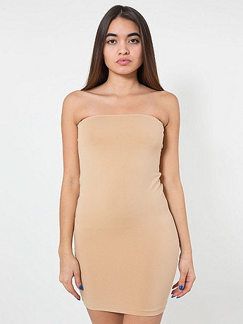 Cotton Spandex Jersey Too-Short Tube Dress