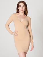 Cotton Spandex Jersey Long Sleeve Criss-Cross Dress