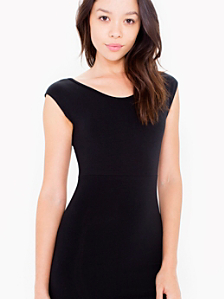 Cotton Spandex Two-Tone Fitted Mini Dress
