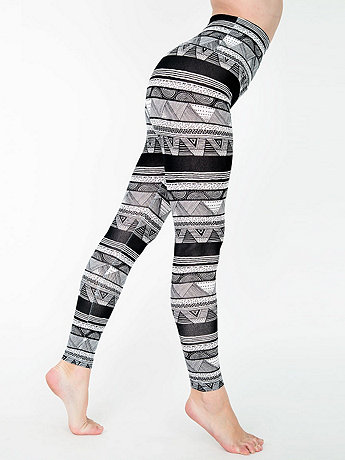 Printed Cotton Spandex Jersey High-Waist Leggings
