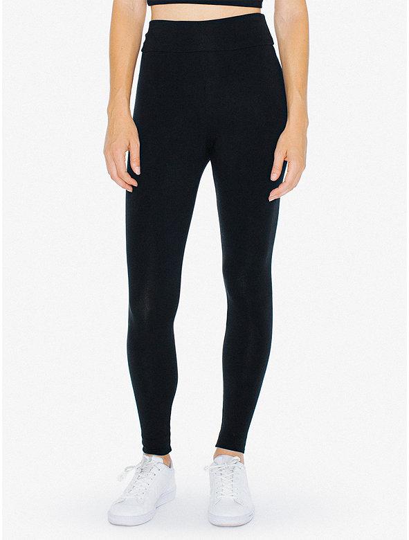 Cotton Spandex Jersey High-Waist Leggings