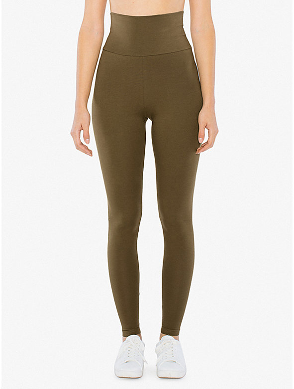 Cotton Spandex Jersey High-Waist Leggings