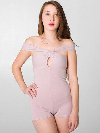 Cotton Spandex Jersey Bandeau Bodysuit