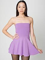 Cotton Spandex Jersey High-Waist Skirt