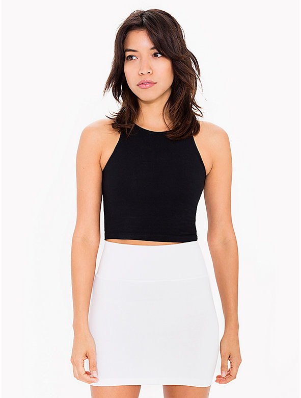 Cotton Spandex Jersey Mini Skirt