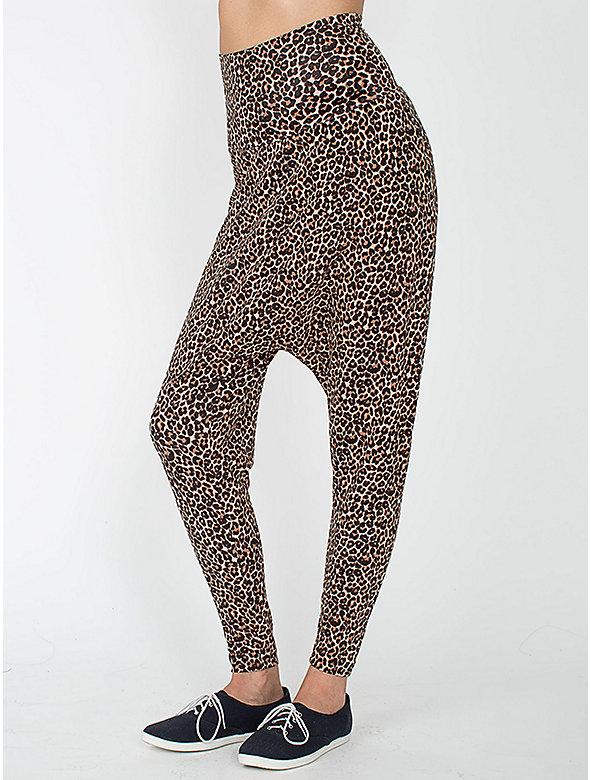 Leopard Printed Spandex Jersey Harem Pant