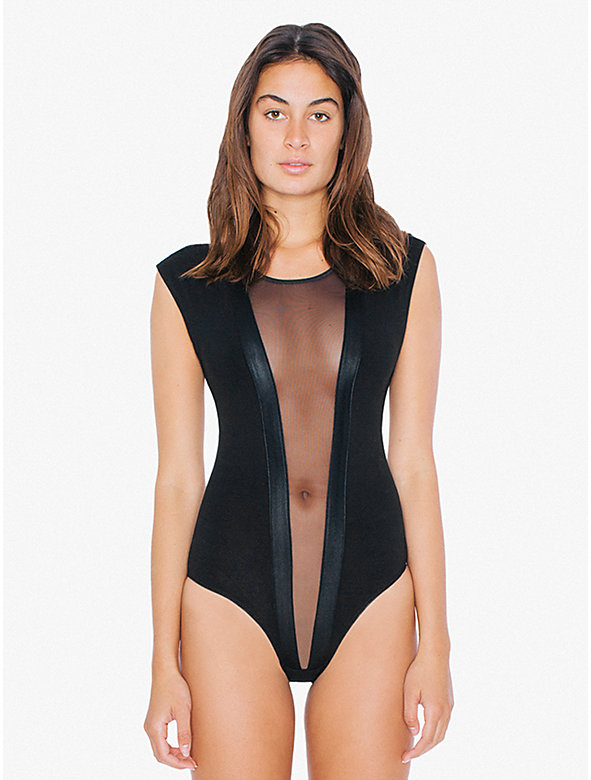 Cotton Spandex Micromesh Gloria V Bodysuit