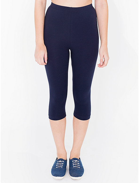Cotton Spandex Jersey Crop Legging