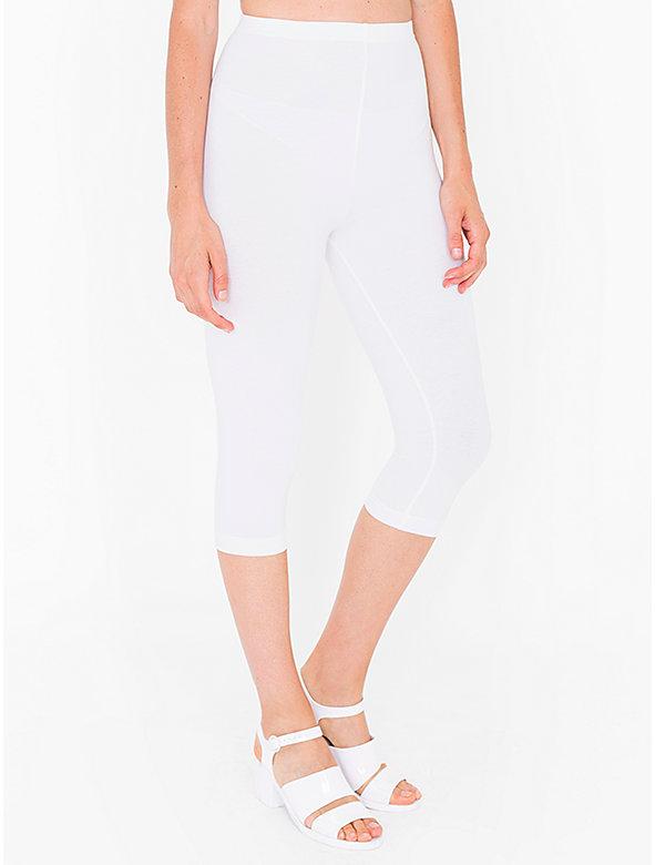 Cotton Spandex Jersey Crop Legging