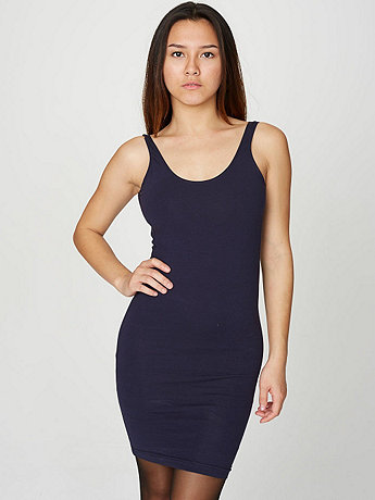 Cotton Spandex Jersey Scoop Back Tank Dress