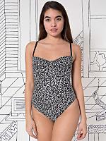 Nathalie Du Pasquier Winie Print Cotton Spandex Jersey Bra Bodysuit