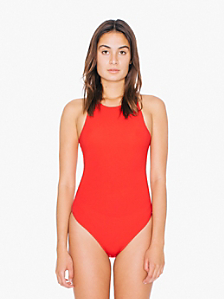 Cotton Spandex Sleeveless Thong Bodysuit