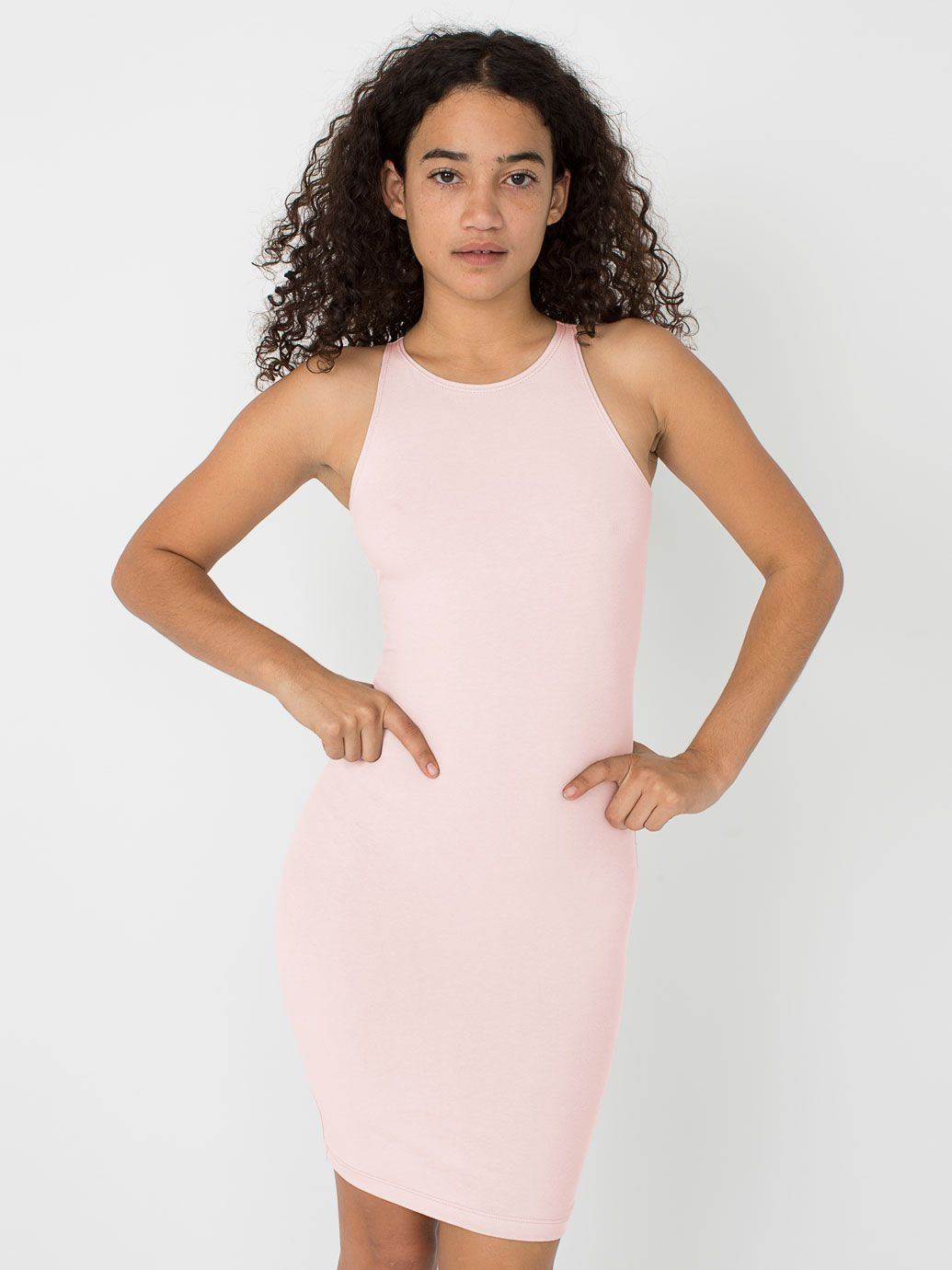 2357a37e0da2 rsa8383 - Cotton Spandex Sleeveless Mini Dress - 118178 rsa8383 by American  Apparel
