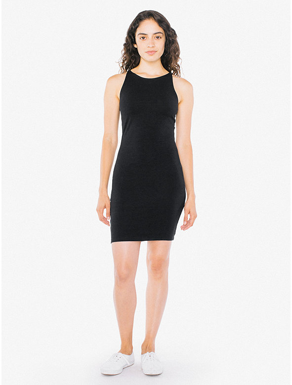 Cotton Spandex Sleeveless Mini Dress