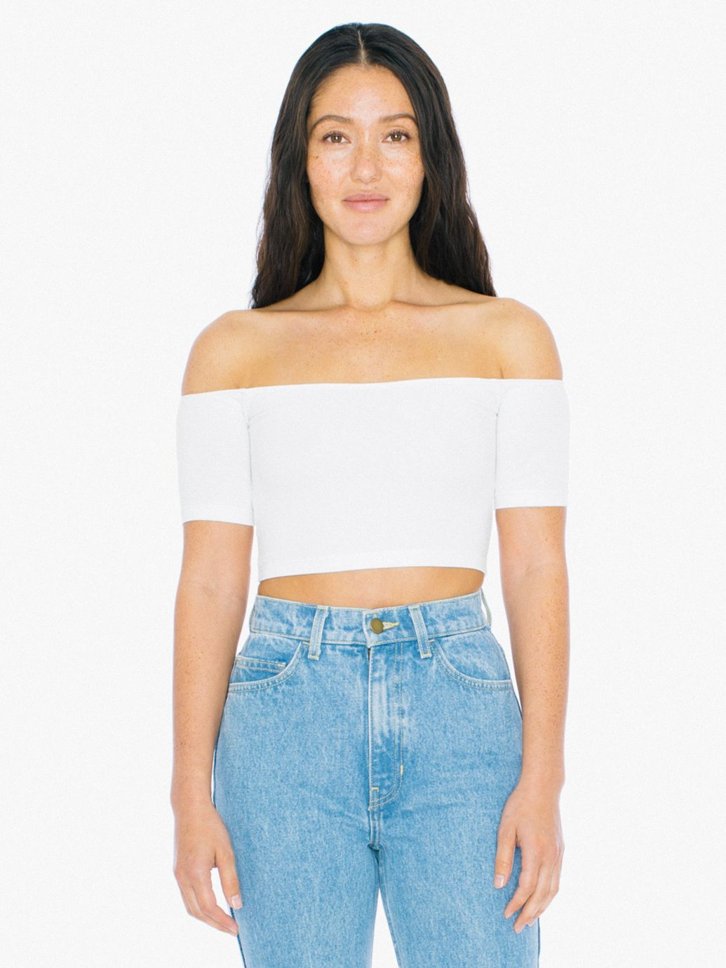 Wear it when its hot out or to dance class. We found the arm holes to be a bit snug so please keep that in mind when choosing a size. 95% Cotton / 5% Elastane construction. Please note that the style calls for % cotton thread but American Apparel sometimes uses a poly/cotton thread.