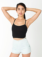 Cotton Spandex Elastic Crop Tank