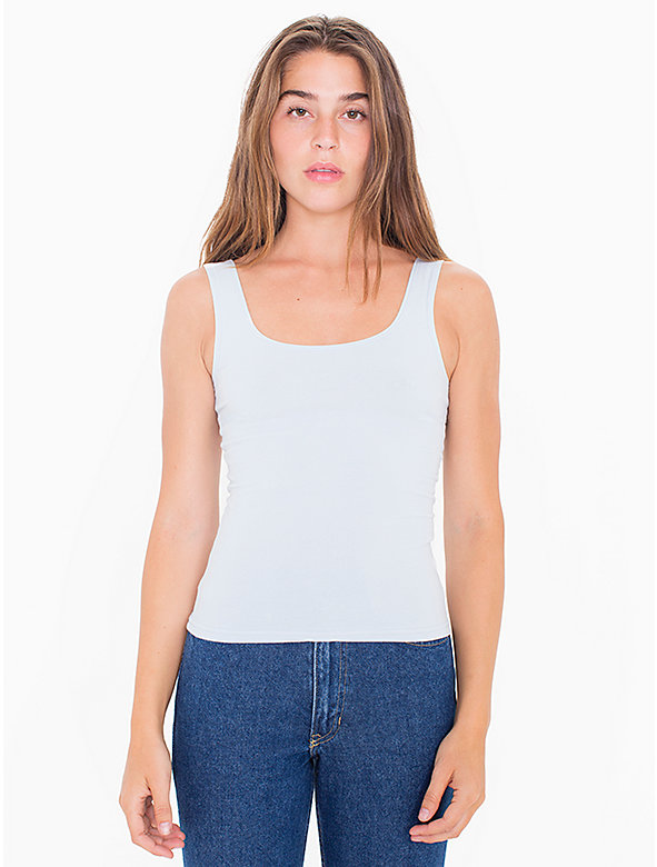 Cotton Spandex Scoop Tank